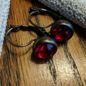 Touchstone Crystal Red Bliss Earrings